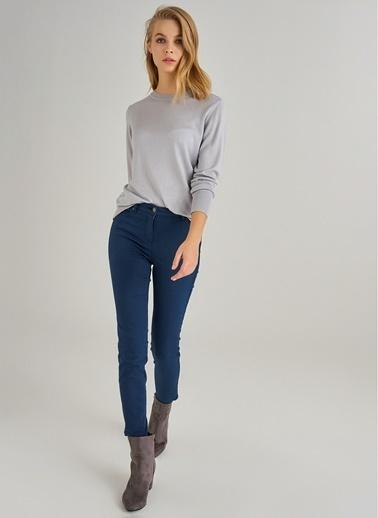Monamoda Yüksek Bel Skinny Pantolon Lacivert